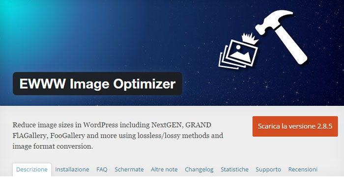 ottimizzazione immagini plugin wordpress